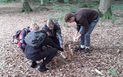 Sortie d'intégration en forêt pour les nouveaux élèves
